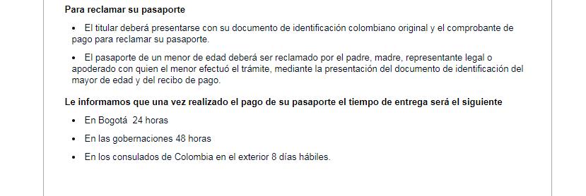 pasaporte cundinamarca